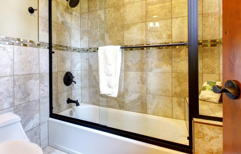nice looking renovated shower