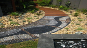 Outdoor tiling job done in Bendigo with mosaic tiles